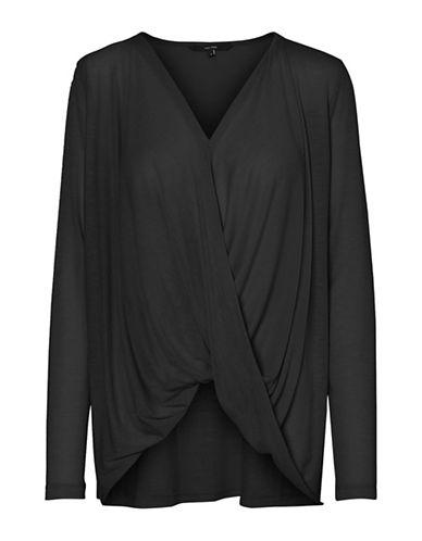 Vero Moda Luna Honie Wrap Top-BLACK-X-Small 89795325_BLACK_X-Small