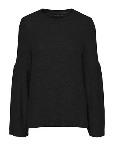 Vero Moda Roya Bell Sleeve Sweater-BLACK-X-Large