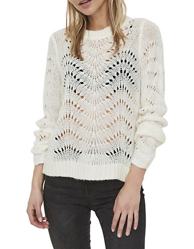 Noisy May Long-Sleeve Crochet Pullover-WHITE-Small 89950045_WHITE_Small