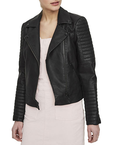 Noisy May Quilted Long-Sleeve Leather Jacket-BLACK-Small 89950079_BLACK_Small