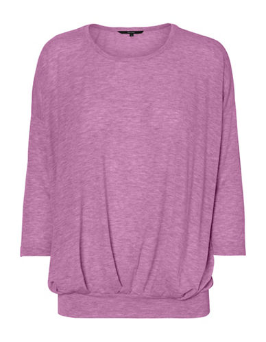 Vero Moda Jakuri Pleat Top-MAUVE-X-Small