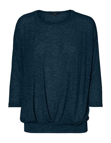 Vero Moda Jakuri Pleat Top-NAVY-X-Large