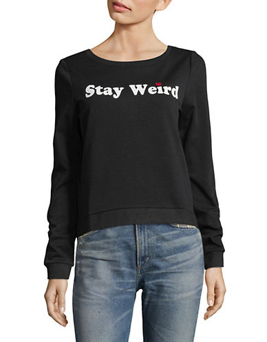 Only Stay Weird Graphic Sweatshirt-BLACK-Medium 89995966_BLACK_Medium