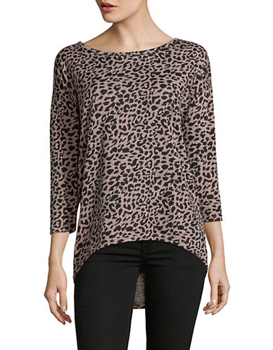 Only onlLELCOS Animal-Print Top-PINK-Medium 89996044_PINK_Medium