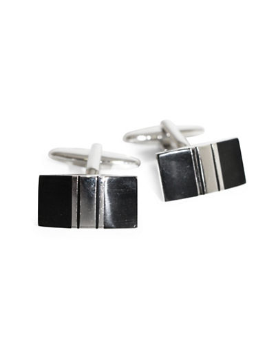 Black Brown 1826 Two-Toned Cufflinks-BLACK NICKEL-One Size