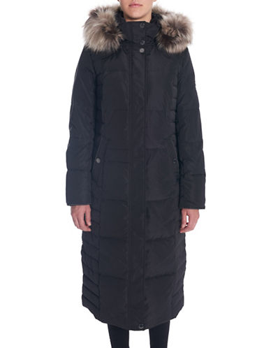 Novelti Long Quilted Hooded Coat-BLACK-X-Small 88412847_BLACK_X-Small