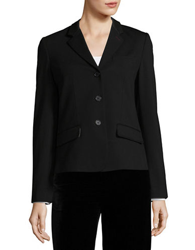 Nvlt Classic Ponte Suit Jacket-BLACK-X-Small