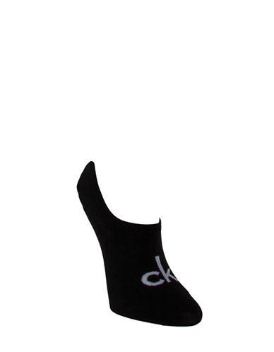 Calvin Klein Logo Liner Socks-BLACK-One Size