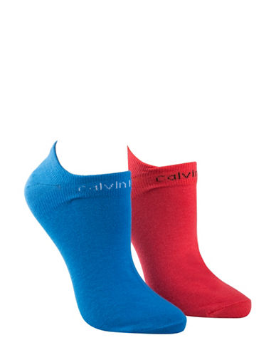 Calvin Klein Two-Pack Coolmax Performance Socks-BLUE-One Size