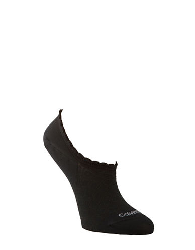 Calvin Klein Diamond No Show Socks-BLACK-One Size 88927235_BLACK_One Size