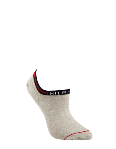 Tommy Hilfiger Two-Pair Underwear Logo Ankle Socks-GREY-One Size