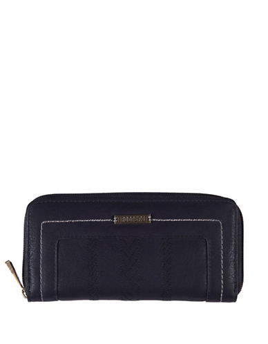 Roots 73 Journey Slim Zip Wallet-BLACK-One Size