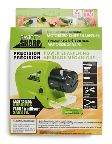 As Seen On Tv Swifty Sharp Cordless Motorized Knife Sharpener-GREEN-One Size