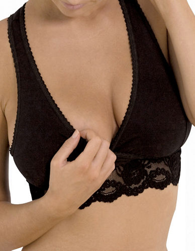 Carriwell Lace Nursing Bra-BLACK-X-Large