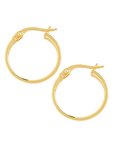 Fine Jewellery 14K Yellow Gold Small Curved Polished Hoop Earrings-YELLOW GOLD-One Size