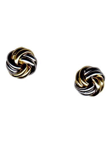 Fine Jewellery 14 Karat Two Toned Gold Love Knot Earrings-TWO TONE-One Size