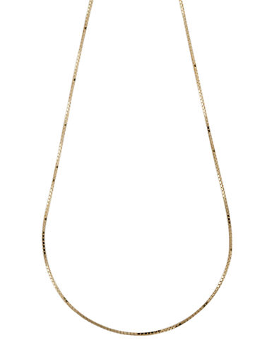 Fine Jewellery 14K Yellow Gold Four Sided Box Chain Necklace-YELLOW GOLD-One Size
