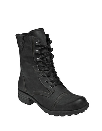 Rockport Cobb Hill Bethany Lace Up Boots-BLACK-6.5