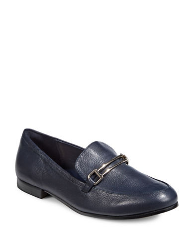 Dkny Ward Leather Loafers-NAVY-8
