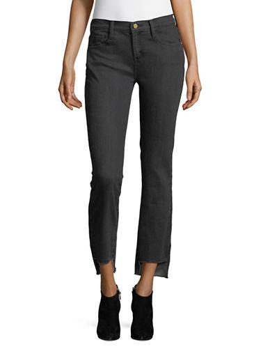 Dkny Frayed Hem Skinny Jeans-BLACK-26
