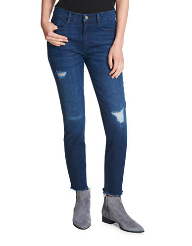 Dkny Distressed Skinny Jeans-BLUE-27
