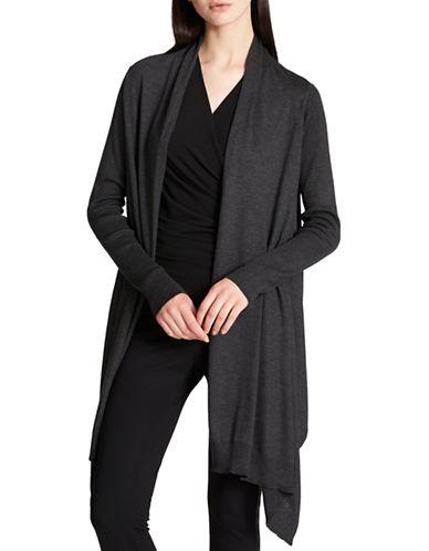 Dkny Long-Sleeve Cozy Cardigan-GREY-X-Small/Small