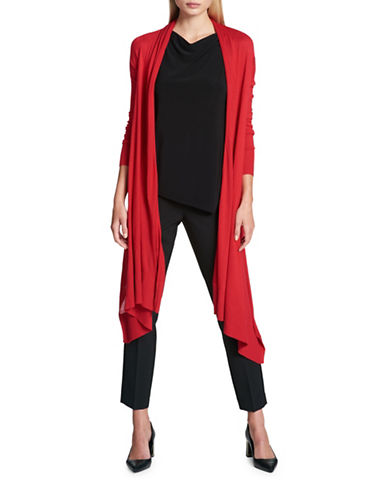 Dkny Drape-Front Cardigan-RED-X-Small/Small