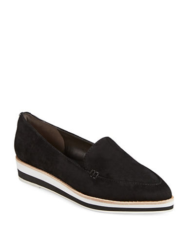Dkny Seaport Leather Slip-On Sneakers-BLACK SUEDE-9