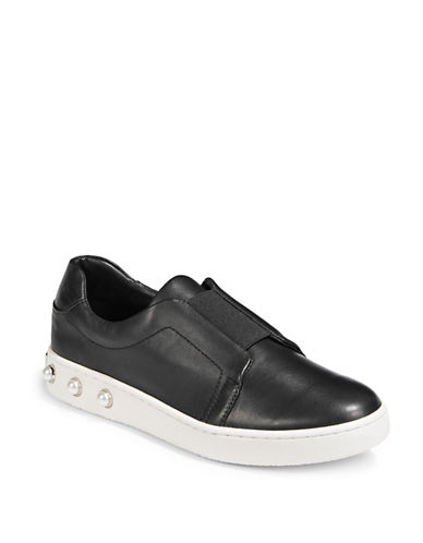 Dkny Bobbi Faux Pearl-Embellished Sneakers-BLACK PEARL-10