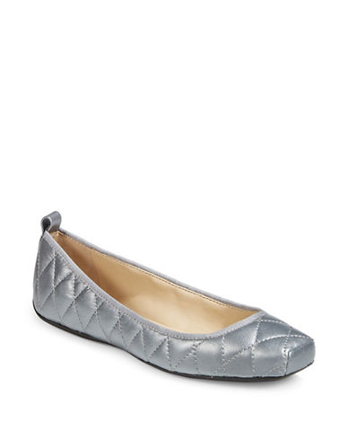 Dkny Tess Quilted Ballet Flats-SILVER-8