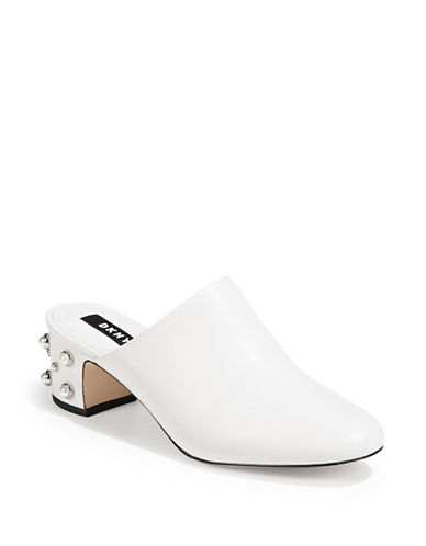 Dkny Ginger Pearl Mules-WHITE-7.5