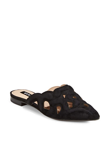 Dkny Palace Slip-On Mules-BLACK-8.5