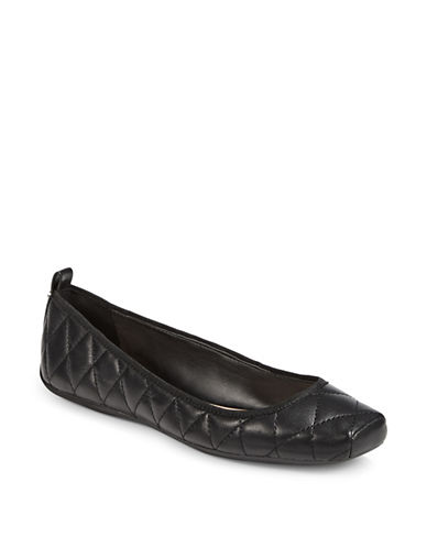 Dkny Tess Quilted Ballet Flats-BLACK-7