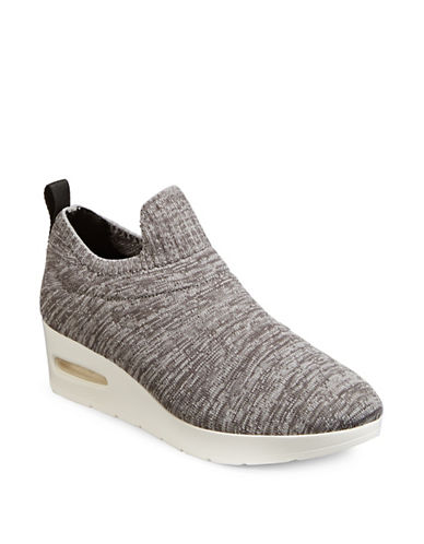 Dkny Angie Wedge Sneakers-DARK GREY-9