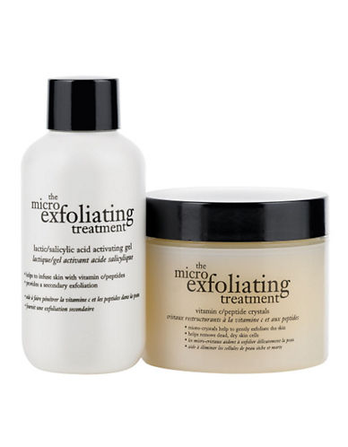 Philosophy micro exfoliating treatment kit vitamin c peptide crystals and lactic acid activating gel-NO COLOUR-120 ml
