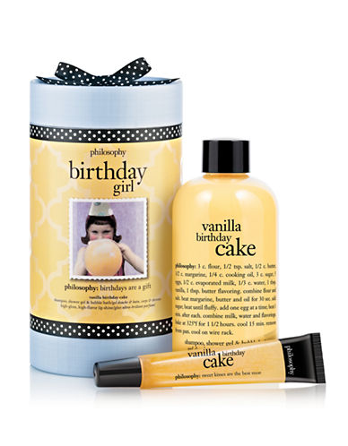 Philosophy birthday girl vanilla birthday cake gift set-NO COLOUR-One Size