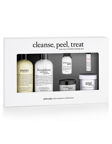 Philosophy Six-Piece Cleanse, Peel, and Treat Set-NO COLOUR-One Size