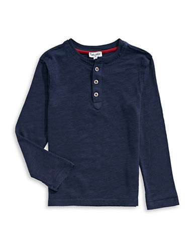 Splendid Always Slub Jersey Henley-BLUE-2T