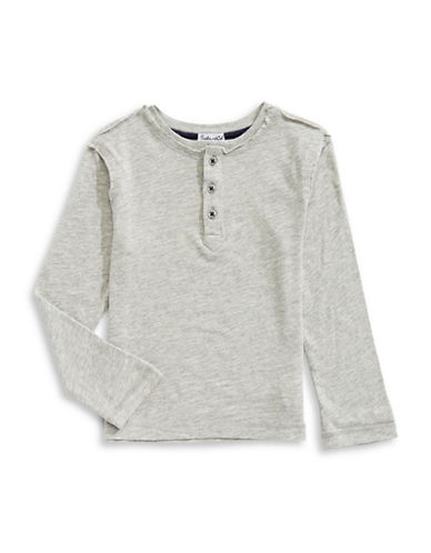 Splendid Always Slub Jersey Henley-GREY-7