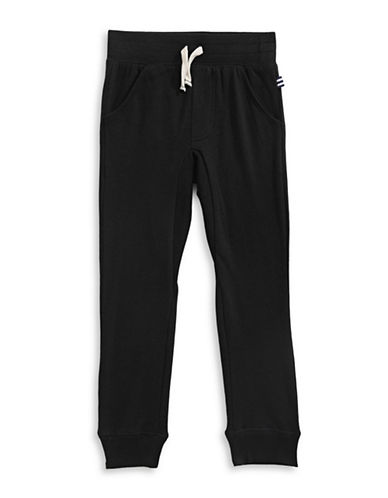 Splendid Cuffed Pocketed Sweatpants-BLACK-4-5
