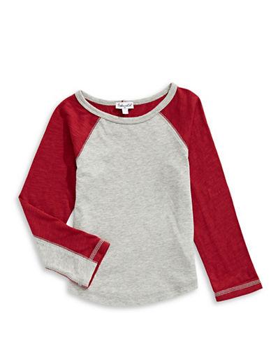 Splendid Slub Jersey Raglan Shirt-GREY-7