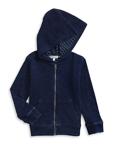 Splendid Denim Look Hoodie-BLUE-7
