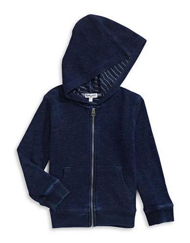 Splendid Denim Look Hoodie-BLUE-5-6