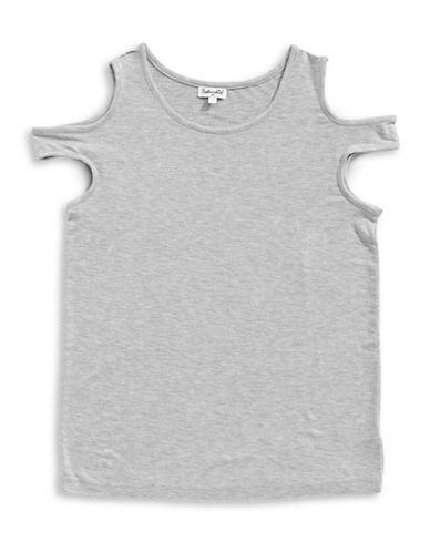 Splendid Cold-Shoulder T-Shirt-GREY-10