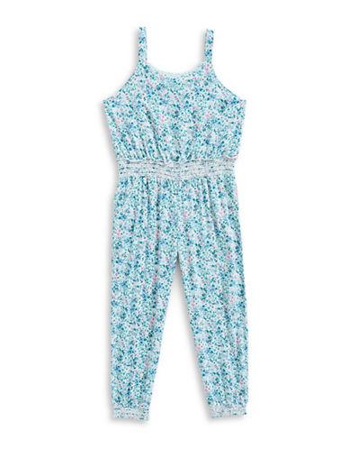 Splendid Floral Print Jumpsuit-BLUE-5