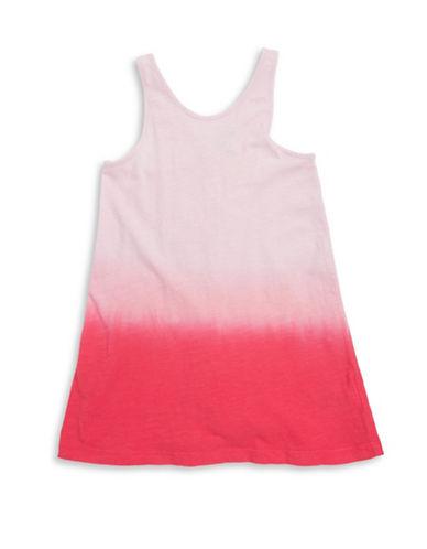 Splendid Knit Dip Dye Cross Back Dress-PINK-2X