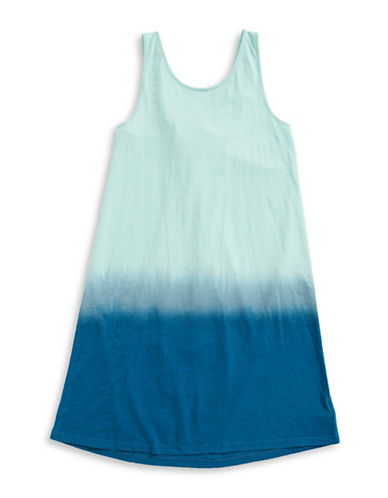 Splendid Dip Dye Crossback Dress-BLUE-10