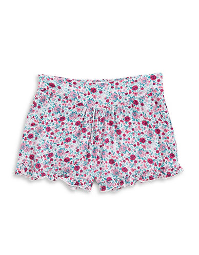 Splendid Ditsy Print Shorts-PINK-14