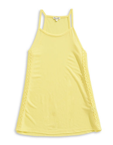 Splendid Racerback Tank Top with Crochet-YELLOW-10