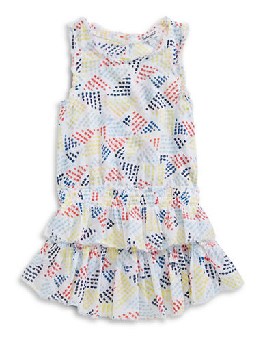 Splendid Paint Stroke Ruffle Dress-PRINT-2X